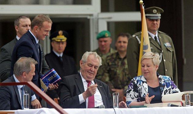 Prezident Zeman ve Městě Libavá