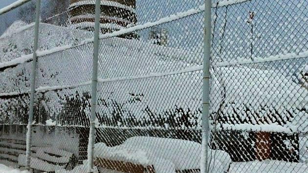 Sněhová kalamita v Jeseníku - 18. ledna 2012