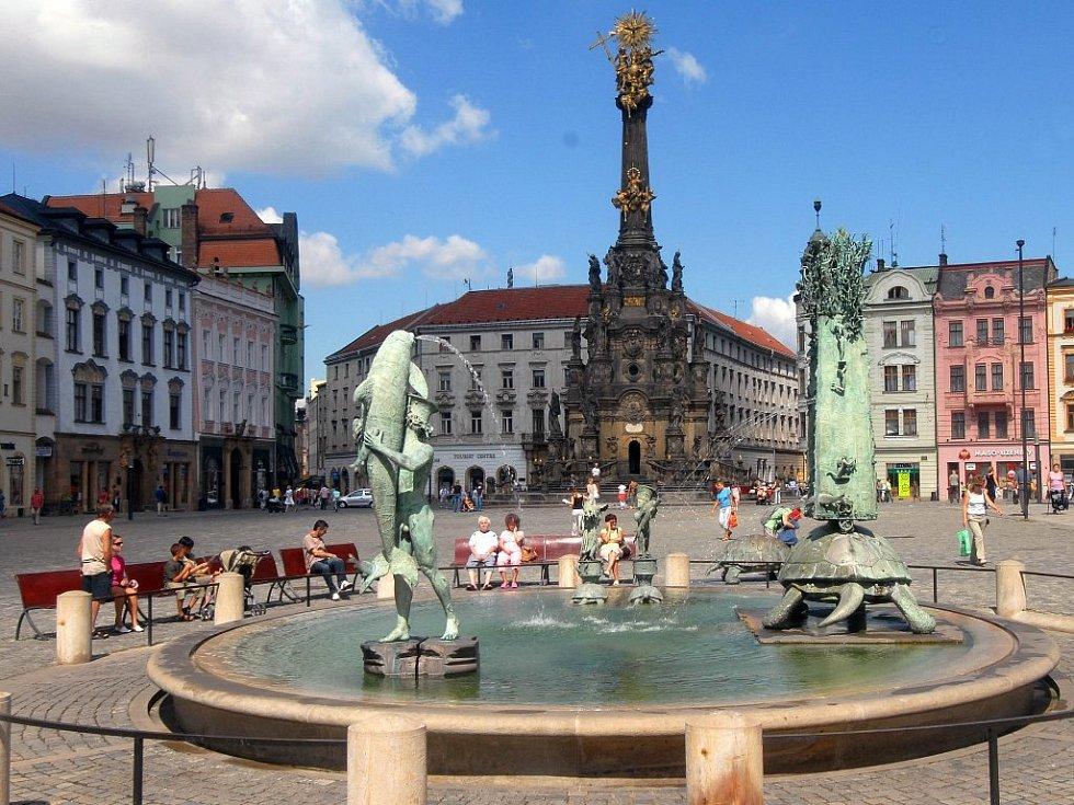 Horní náměstí se sloupem Nejsvětější Trojice