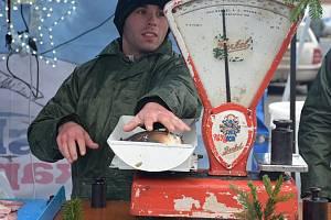 Prodej vánočních kaprů. Ilustrační foto