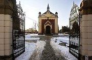 Původně evangelická hřbitovní kaple v Neředíně, nyní květinářství