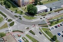 Vizualizace křižovatky Zikova - Schweitzerova ulice. Do provozu v Zikově ulici zasáhne výrazně v roce 2021 stavba tramvajové trati