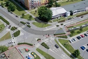 Rozšíření tramvajové trati na Nové Sady a do Slavonína. Vizualizace Zikova - Schweitzerova ulice