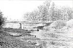 Výstavba nového mostu přes řeku Moravu mezi Stření a Lhotou v roce 1967 přinesla změny jako například napřímení vozovky či navýšení svršku silnice, což však mělo negativní dopad při povodních v roce 1997.