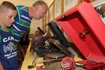 Výstava gramofonů v Luké na Olomoucku