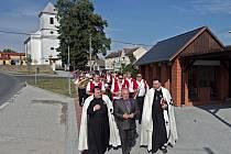 Slavnostní otevření návsi v Luké
