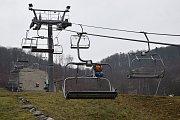 Lanovka v lyžařském areálu v Hrubé Vodě