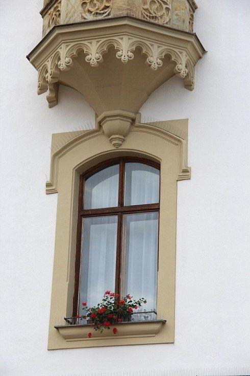 Květinová výzdoba na Horním náměstí v Olomouci, červen 2021