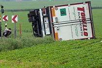 Nehoda kamionu u olomouckého Globusu