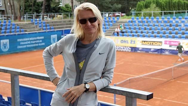 Jana Novotná na dvorcích TK Precheza Přerov v roce 2014