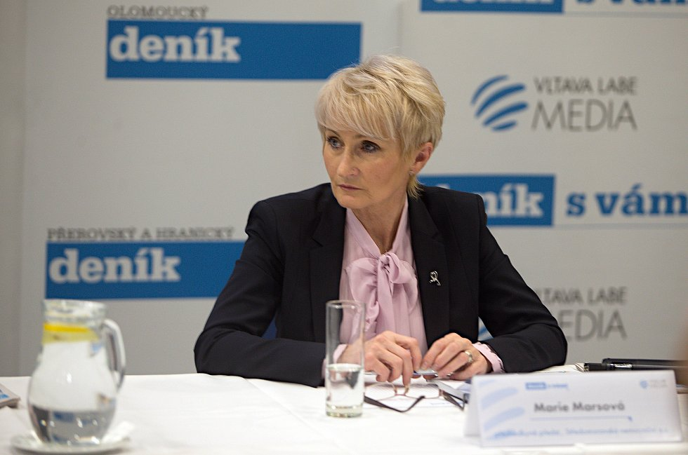 předsedkyně představenstva Středomoravské nemocniční Marie Marsová