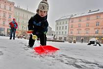 Sněhová nadílka v Olomouci - 18. března 2013