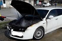 Požár auta v Troubelicích