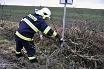 Následky silného větru v Olomouci. Pátek 16. prosince 2011
