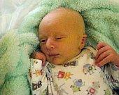 Vojta Haničák, Malá Morávka, narozen 12. dubna v Olomouci, míra 50 cm, váha 3070 g
