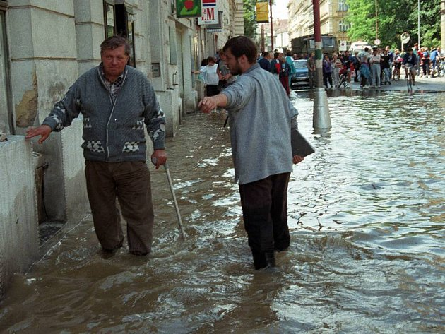 Olomouc, Komenského ulice, 9. července 1997