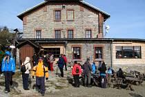 Zrekonstruovaná Jiřího chata na Šeráku