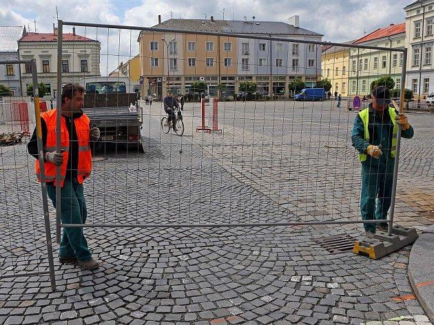 V Litovli začala oprava náměstí Přemysla Otakara