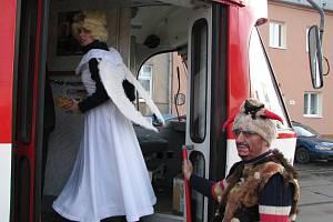 Mikulášská tramvaj v Olomouci.