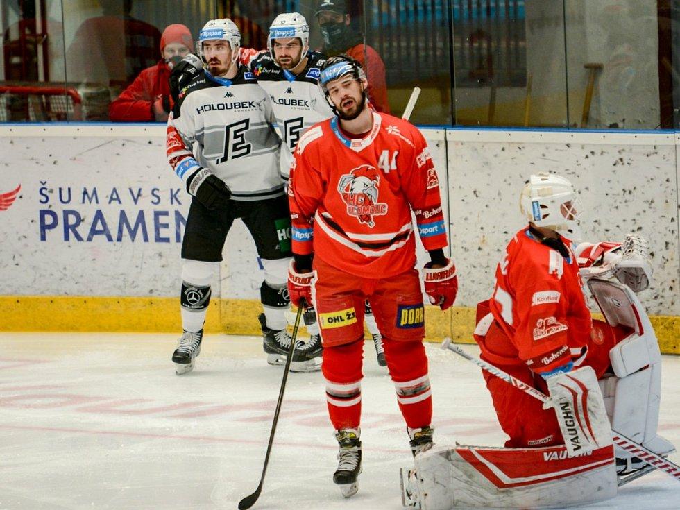 Hokejisté HC Olomouc hostili ve 49. kole Tipsport extraligy Karlovy Vary.