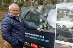 Ředitel olomoucké zoo Radomír Habáň představuje připravovaný projekt pro africké brodivé ptáky.