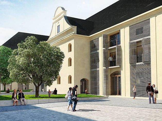 Vizualizace přestavby bývalého Měšťanského pivovaru mezi Lafayettovou a Uhelnou ulicí. Zdroj: Ateliér Cigler Marani Architects