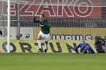 Martin Doležal slaví vítězný gól Jablonce v Olomouci