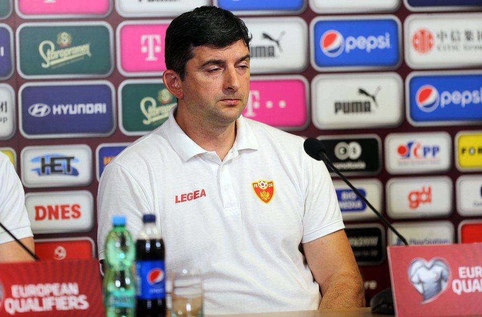 Tiskové konference fotbalové reprezentace Černé Hory v Olomouci