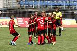 Hráči ZŠ Sluneční Šumperk ovládli 22. ročník McDonald's Cupu.Radost hráčů ZŠ Marjánka Praha.