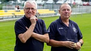Předseda krajského fotbalu Stanislav Kaláb a patron turnaje Petr Uličný