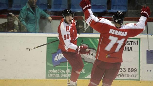 Radující se hokejisté Mory