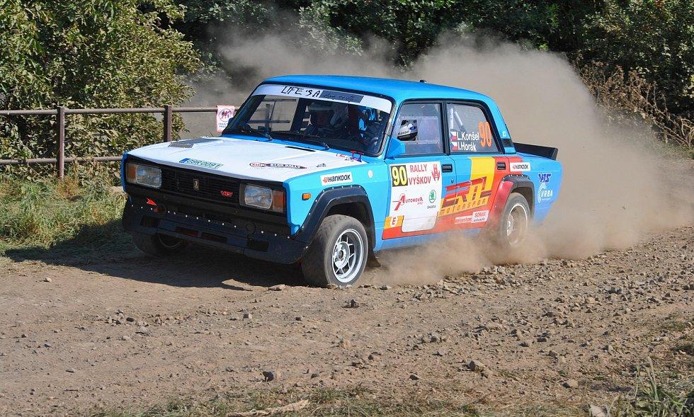 Lubomír Konšel a Ivan Horák na Rally Vyškov