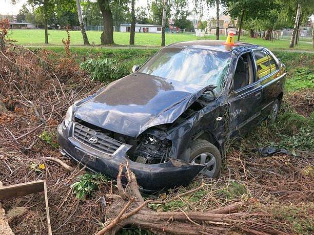 Tragická nehoda hyundaie u Olšan u Prostějova