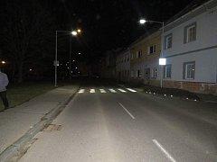 Místo nehody ve Šternberku