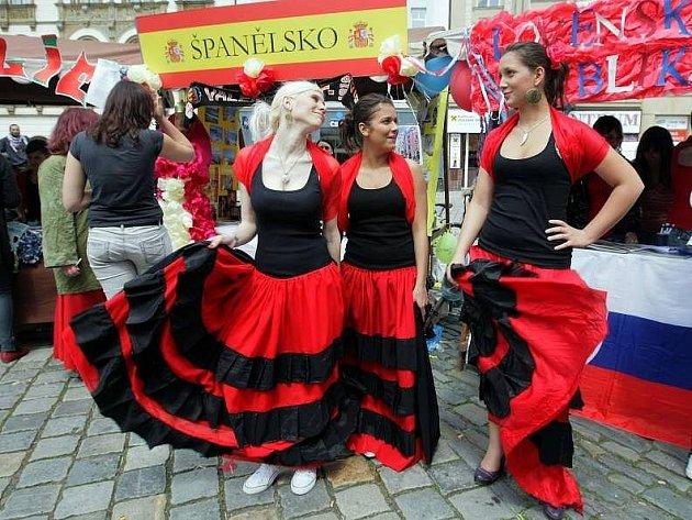 Den Evropy na Horním náměstí v Olomouci