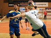 Házenkáři Zlína (v modrém) proti Litovli