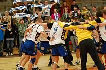 Házenkáři Litovle při oslavě vítězství