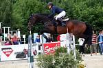 Zuzana Zelinková a Caleri li. Světový pohár v parkuru v jezdeckém areálu Equine Sport Centre v Olomouci