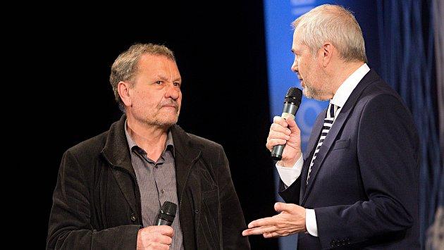 Miroslav Krobot - Cena za výjimečný počin roku v oblasti umění - film, rozhlas a televize. Předávání Cen Olomouckého kraje za přínos v oblasti kultury 2017 v Městském divadle v Prostějově