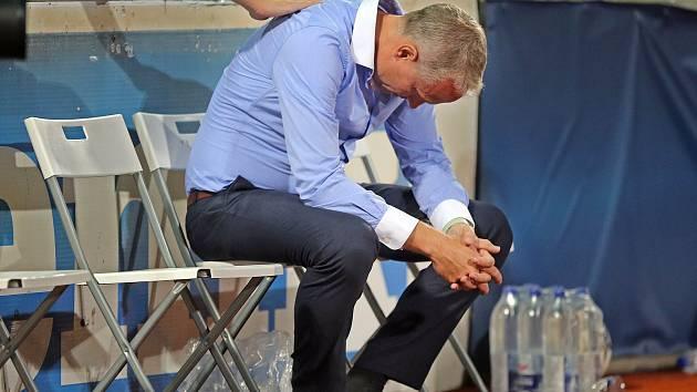 Trenér Sigmy Václav Jílek po ztraceném zápase s Bohemians