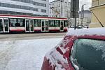 Ledovka a sníh v centru Olomouce - 8. 2. 2021