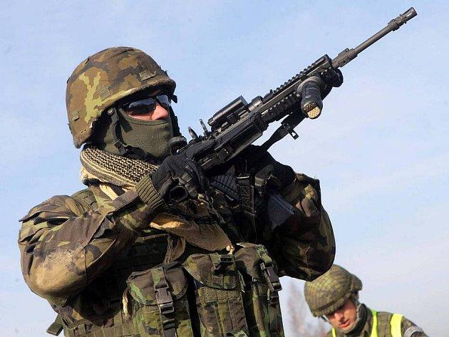 Výcvik na afghánskou misi na Libavé. Ilustrační foto