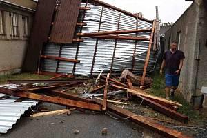 Následky bouřek v Olomouckém kraji, 21. června 2021