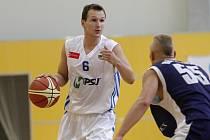 Olomoučti basketbalisté v bílém. Ilustrační foto