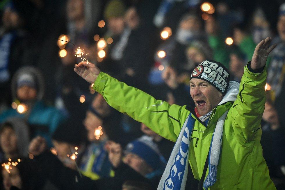 Utkání 19. kola první fotbalové ligy: Baník Ostrava - Sigma Olomouc, 14. prosince 2018 v Ostravě. Na snímku fanoušek.