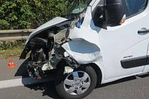 Nehoda čtyř aut na D35 u Litovle