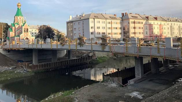 Rozestavěný most u Bristolu v Olomouci - 11. října 2019