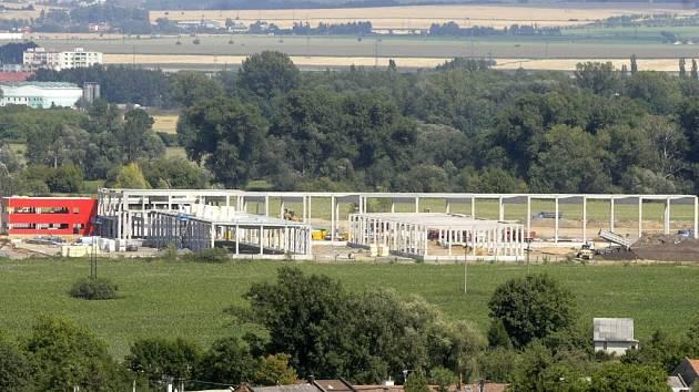 Stavba průmyslového parku v Olomouci–Nemilanech.