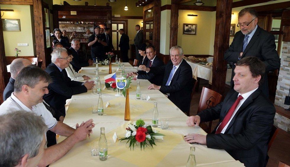 Prezident Miloš Zeman na návštěvě Hanušovic