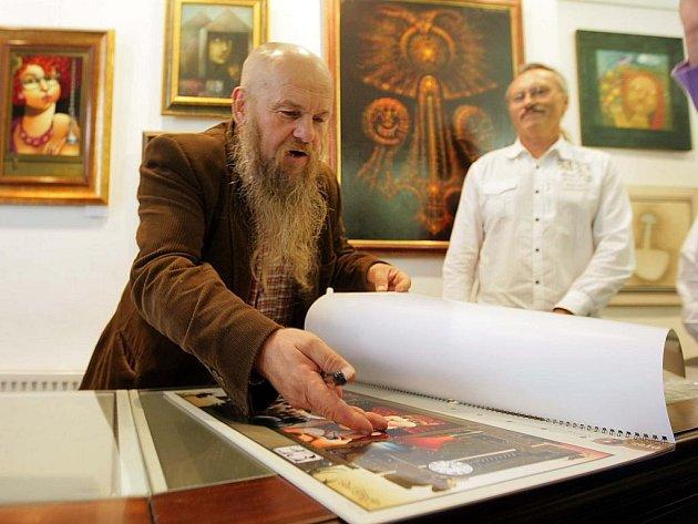 Libor Vojkůvka podepisoval kalendáře
